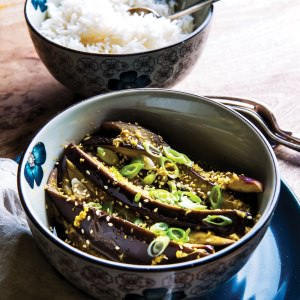 TMix+'s Cool Steamed Eggplant with a Garlicky Dressing