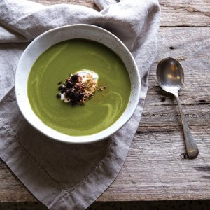 Wintergreen Soup with Quinoa & Black Beans