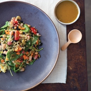 Quinoa & Four-Bean Salad  with Turmeric Dressing